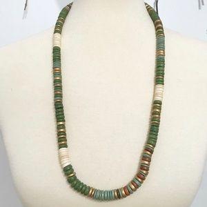 • Vintage • Green Bead Necklace